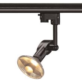SLV 152280 Luna 1 75W Black Eutrac 3 Circuit 240V Track Light