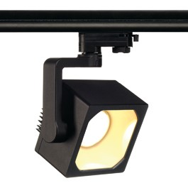 SLV 152700 Euro Cube DMLI LED 15W 3000K Black Eutrac 3 Circuit 240V Track Light