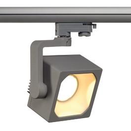 SLV 152724 Euro Cube DMLI LED 28W 3000K Silver Grey Eutrac 3 Circuit 240V Track Light