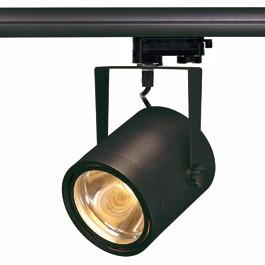 SLV 153490 Euro Spot LED Disk 800 12W 2700K Black Eutrac 3 Circuit 240V Track Light