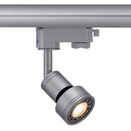 SLV 153574 Puri Spot Set LED 6W 3000K Silver Grey Eutrac 3 Circuit 240V Track Light