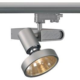 SLV 153644 Sleek Spot G12 70W 12 Degree Silver Grey Eutrac 3 Circuit 240V Track Light