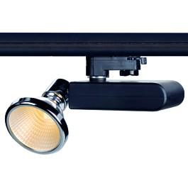 SLV 153710 D-Rection 35W GU6.5 Black & Chrome Eutrac 3 Circuit 240V Track Light