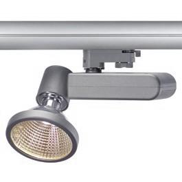 SLV 153714 D-Rection 35W GU6.5 Silver Grey Eutrac 3 Circuit 240V Track Light