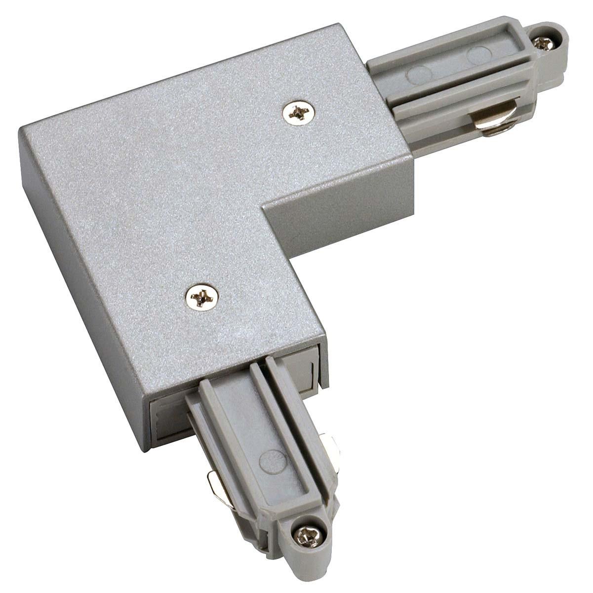 SLV 143062 L Coupler Earth Inner Silver Grey 1 Circuit 240V Track Accessory
