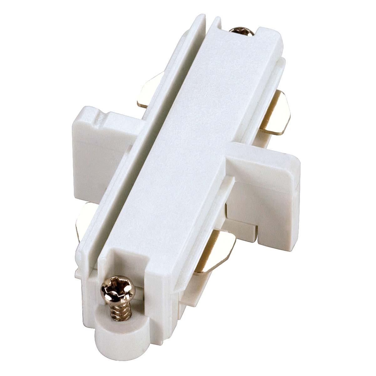 SLV 143091 Straight Coupler White 1 Circuit 240V Track Accessory