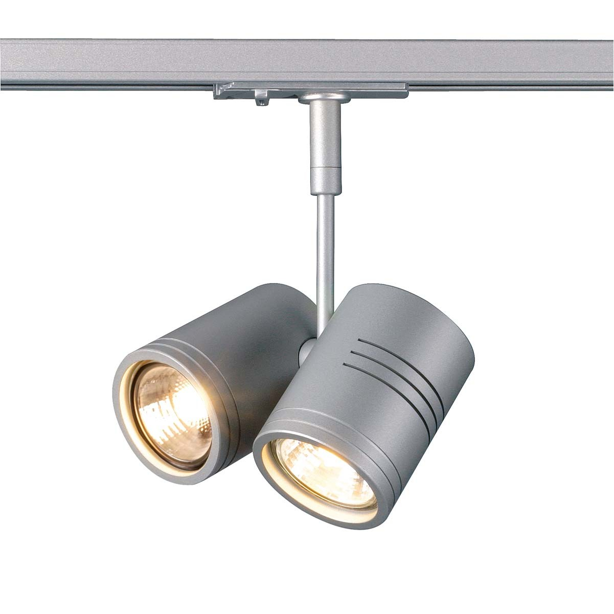 SLV 143432 Bima 2 2x50W Silver Grey 1 Circuit 240V Track Light