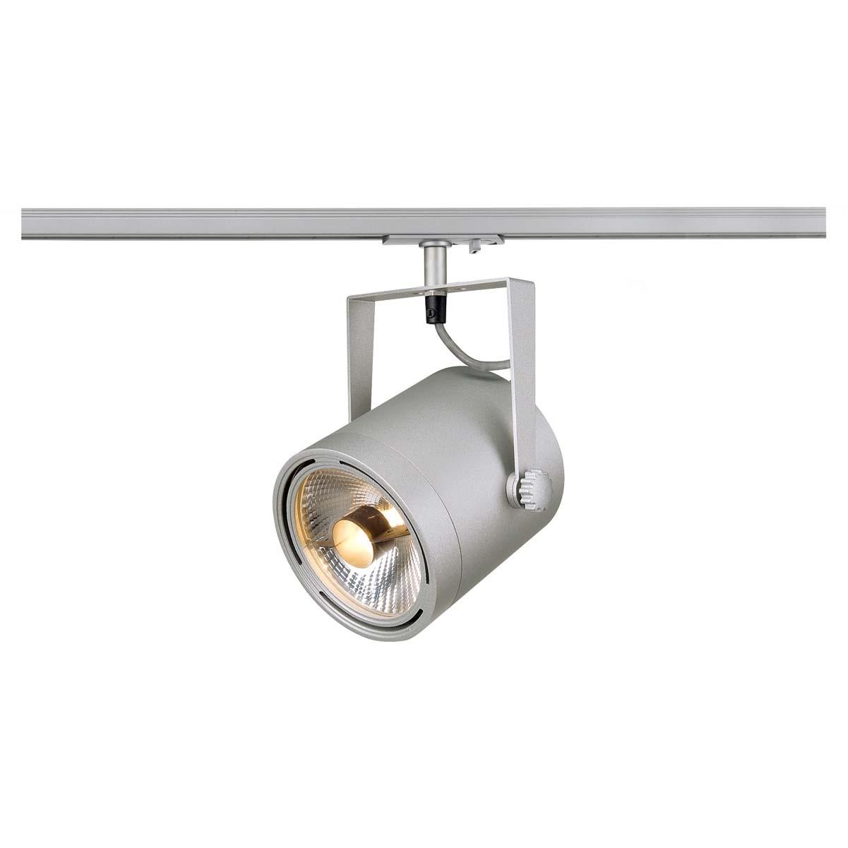 SLV 143804 Euro Spot 75W ES111 Silver Grey 1 Circuit 240V Track Light