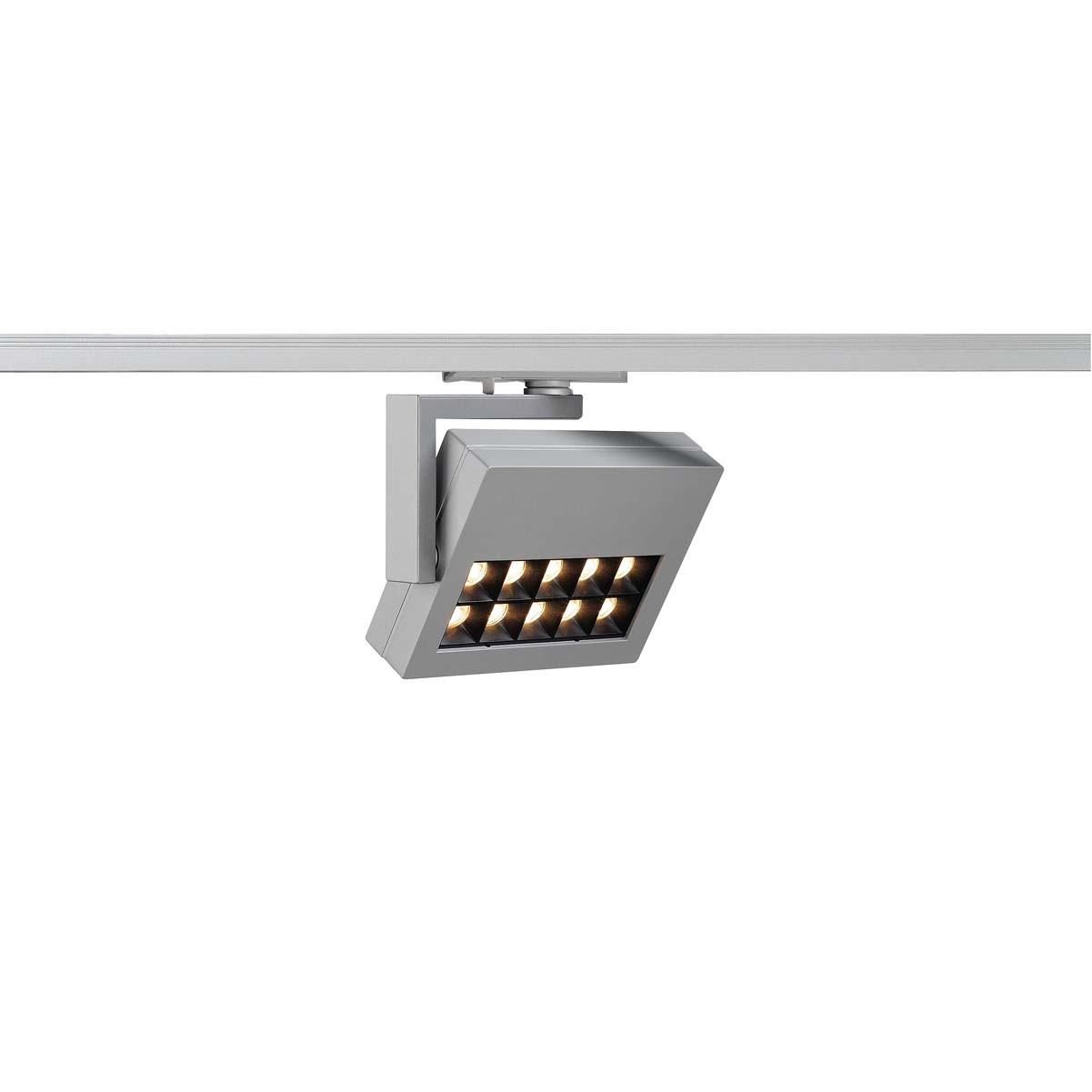 SLV 144054 Profuno LED Spot 18W 3000K 1 Circuit 240v Track Light Silver Grey