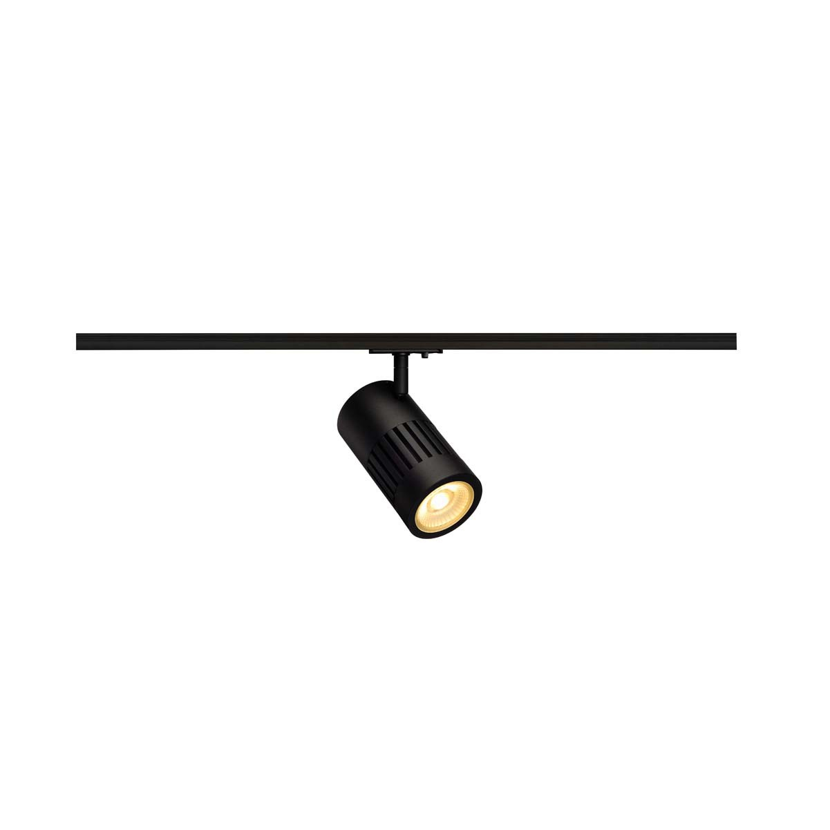 SLV 144110 STRUCTEC LED 24W, round, black, 3000K, 60°, incl. 1-phase adapter