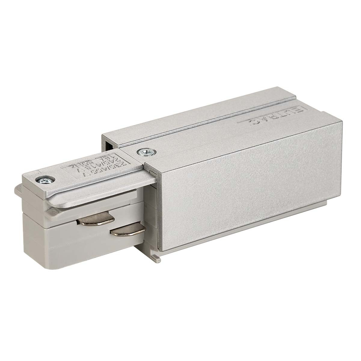 SLV 145514 Feed In Earth Left Silver Grey Eutrac 3 Circuit 240V Surface Track Accessory