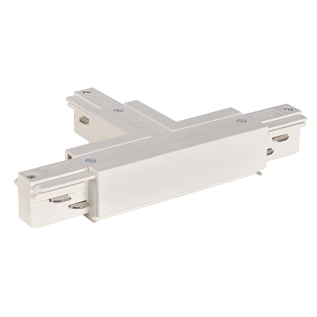SLV 145631 T Coupler Earth Left White Eutrac 3 Circuit 240V Surface Track Accessory