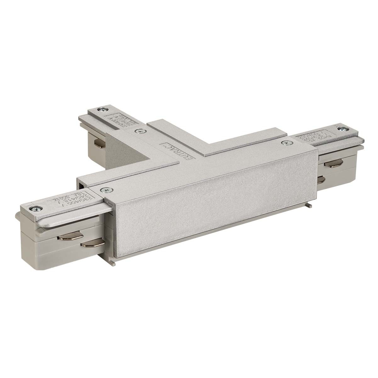 SLV 145634 T Coupler Earth Left Silver Grey Eutrac 3 Circuit 240V Surface Track Accessory
