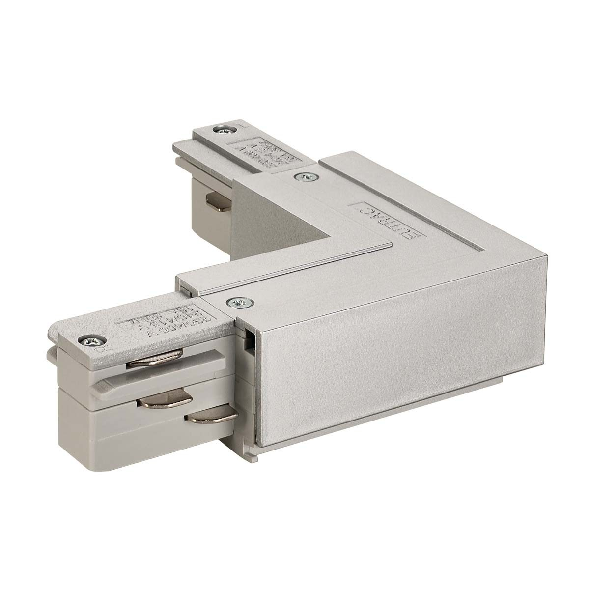 SLV 145674 L Coupler Earth Outer Silver Grey Eutrac 3 Circuit 240V Surface Track Accessory