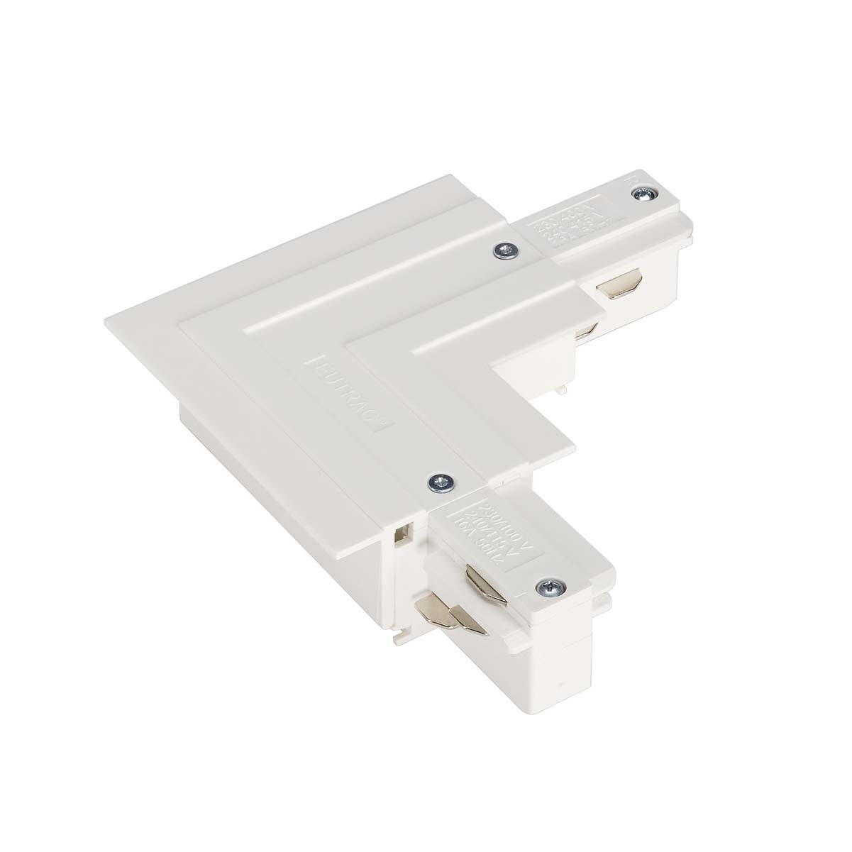 SLV 145761 L Coupler Earth Outer White Eutrac 3 Circuit 240V Recessed Track Accessory