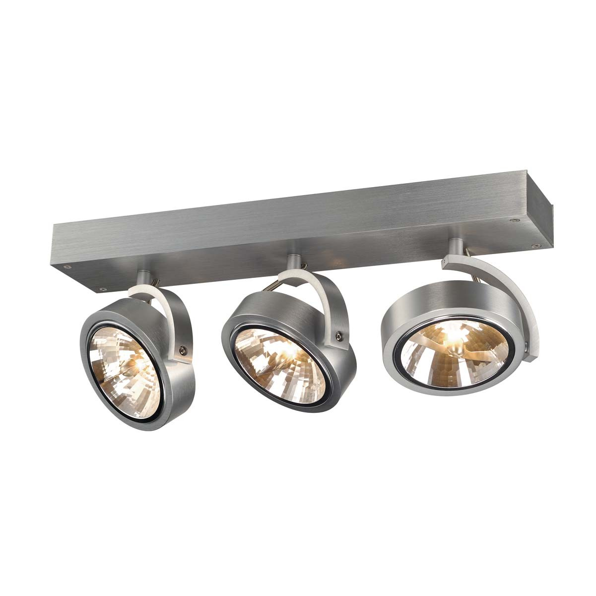 SLV 147276 Kalu 3 3x50W Brushed Aluminium Ceiling & Wall Light