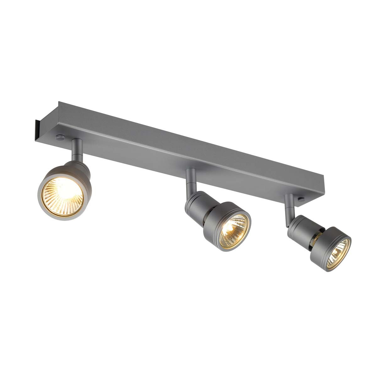 SLV 147384 Puri 3 3x50W Silver Grey Ceiling & Wall Light