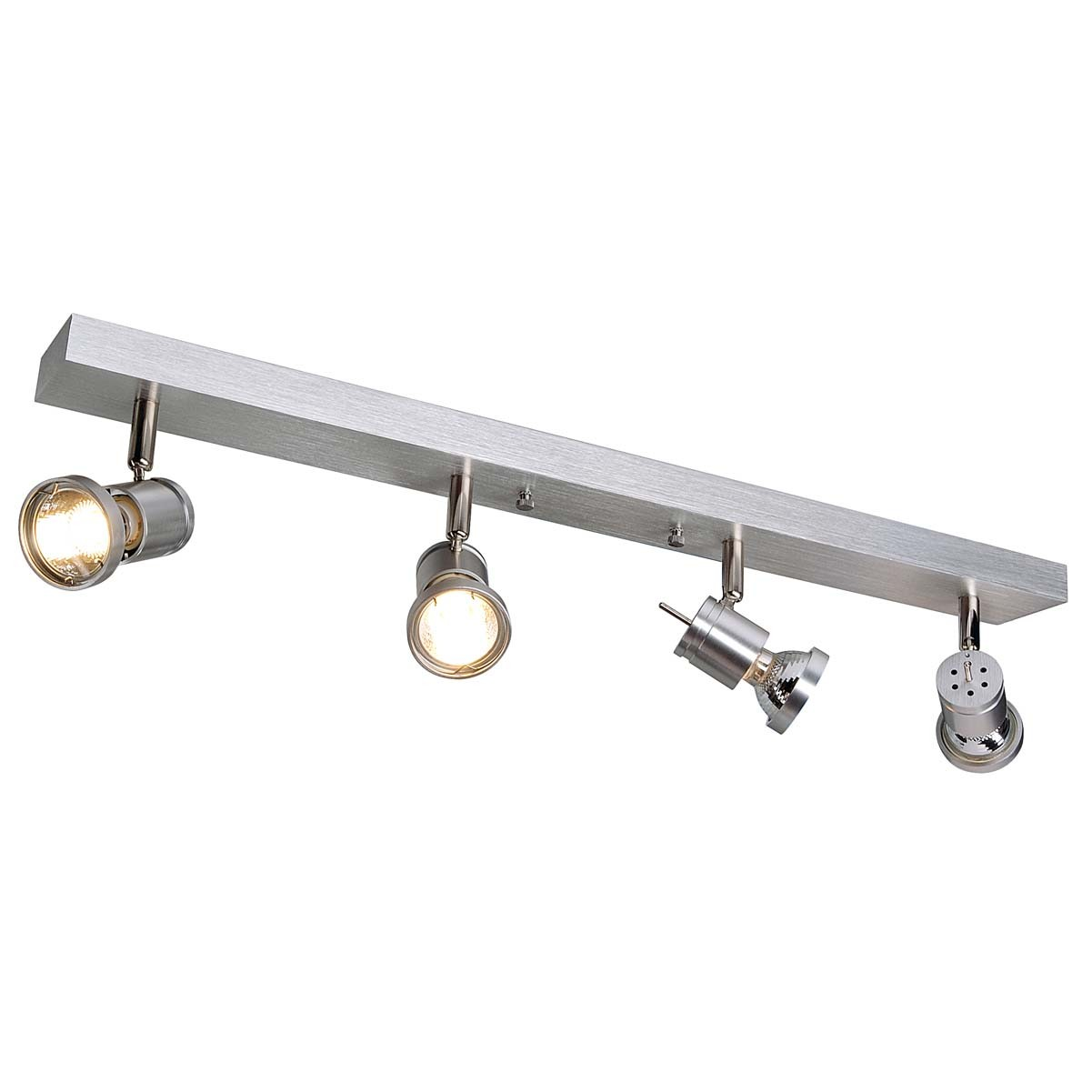 SLV 147444 Asto 4 4x75W Brushed Aluminium Ceiling & Wall Light