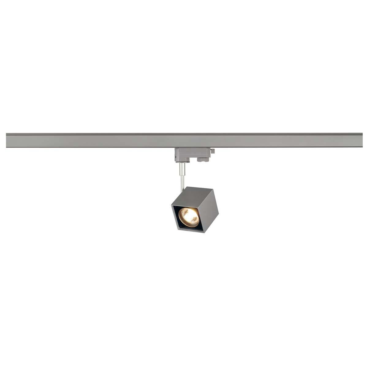 SLV 152324 Altra Dice 50W Silver Grey & Black Eutrac 3 Circuit 240V Track Light
