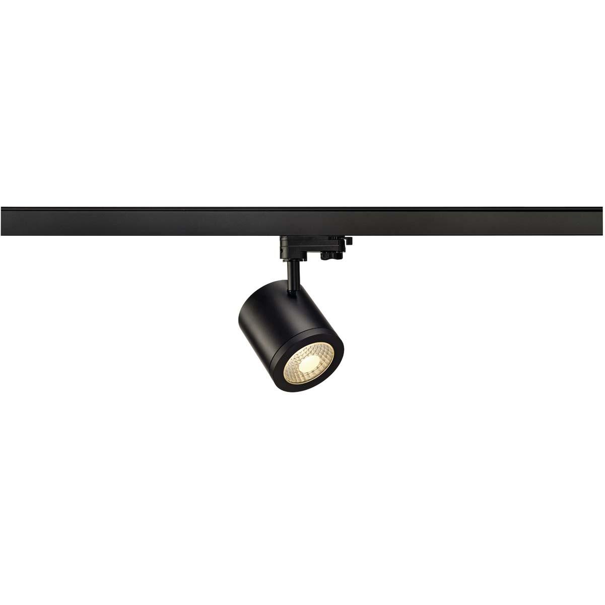 SLV 152420 Enola C9 LED 9W 3000K 35 Degree Black Eutrac 3 Circuit 240V Track Light
