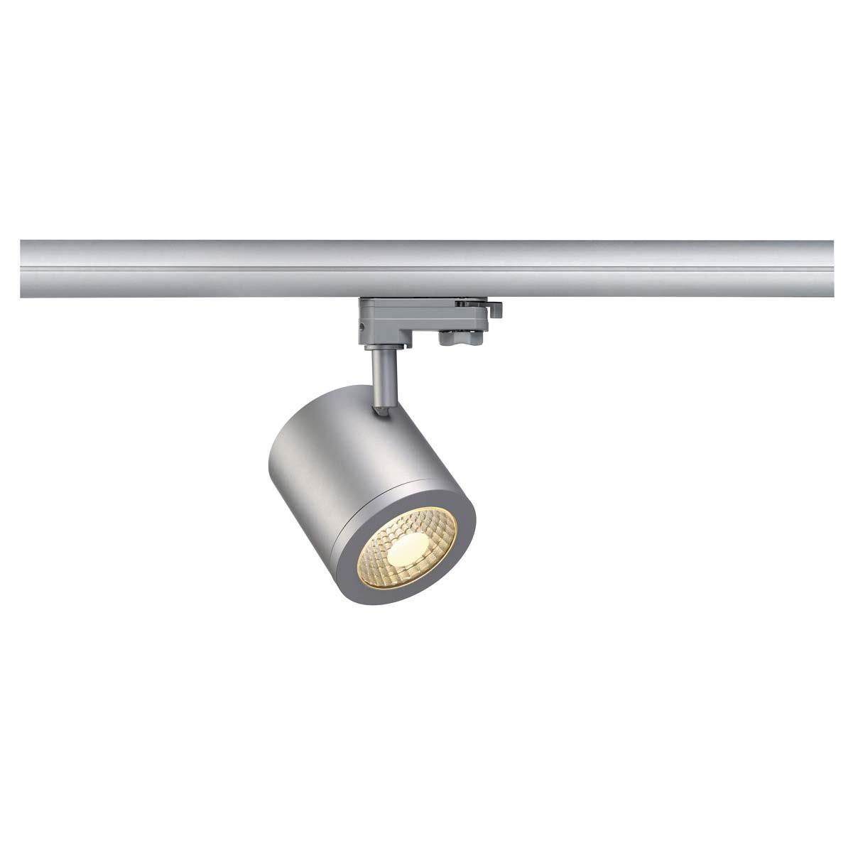 SLV 152424 Enola C9 LED 9W 3000K 35 Degree Silver Grey Eutrac 3 Circuit 240V Track Light