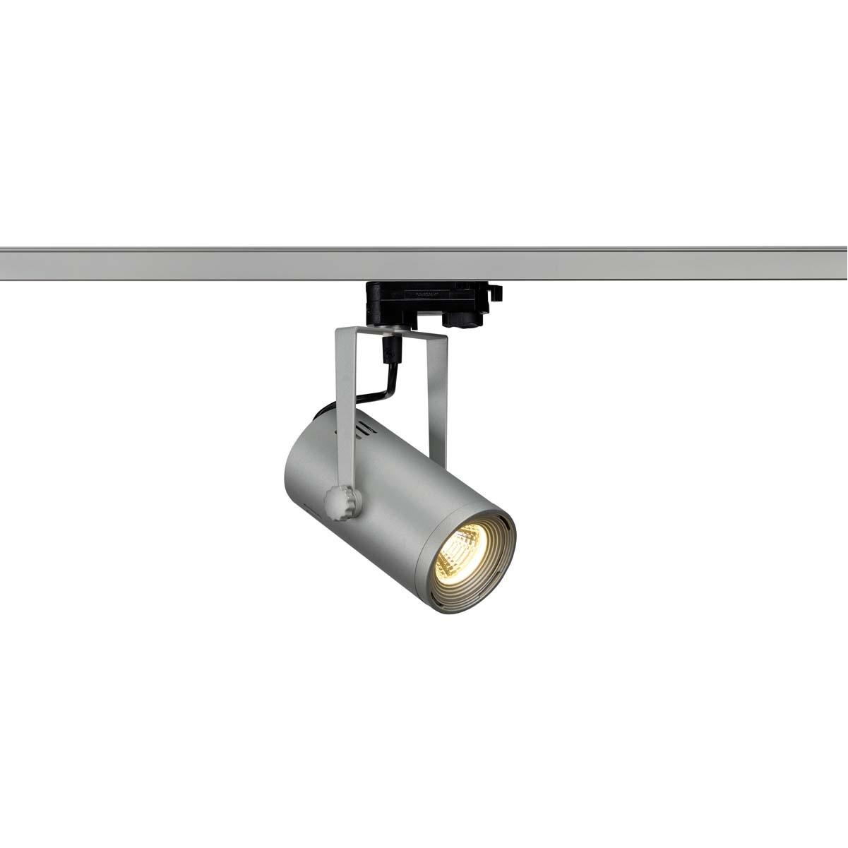 SLV 153804 Euro Spot LED 9W 3000K Eutrac 3 Circuit Track Light Silver Grey
