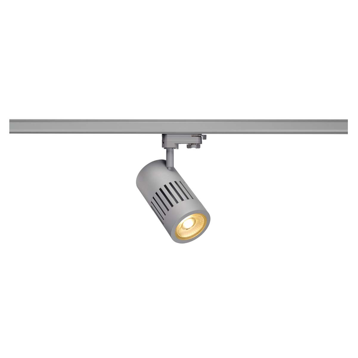 SLV 176004 STRUCTEC LED 24W, round, silver, 3000K, 36°, incl. 3-phase adapter