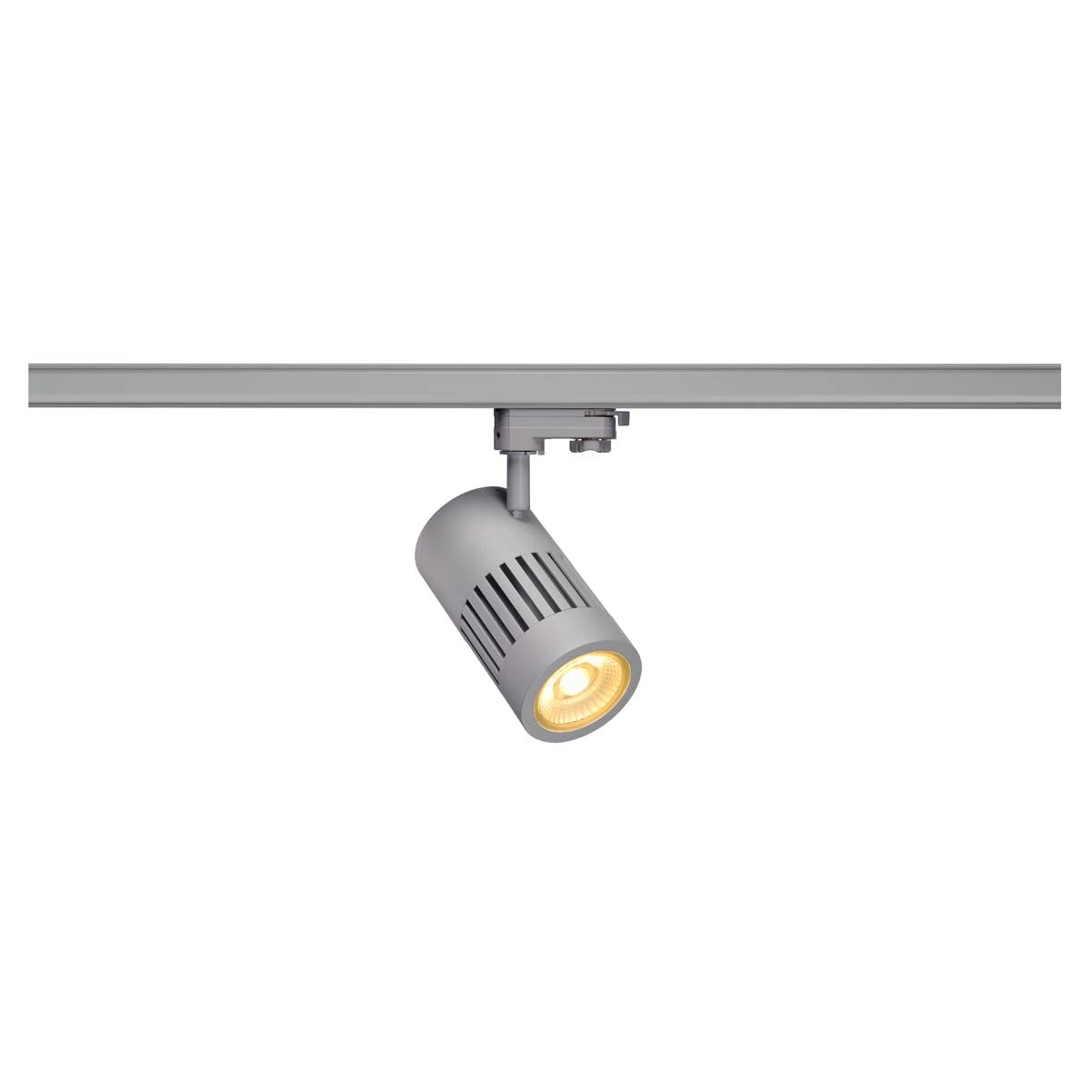 SLV 176014 STRUCTEC LED 24W, round, silver, 3000K, 60°, incl. 3-phase adapter