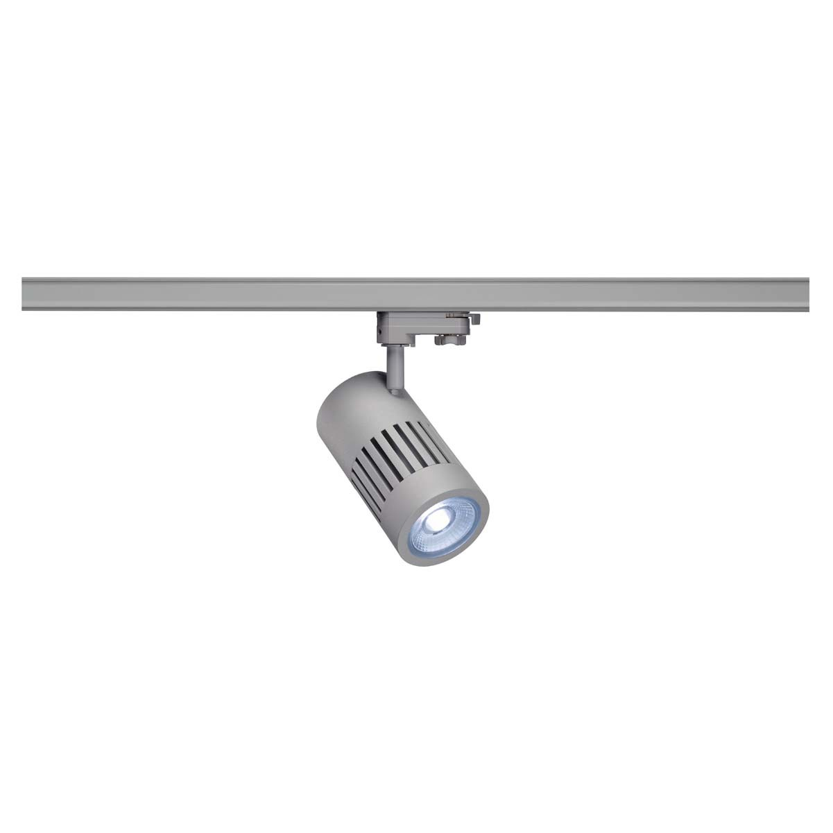 SLV 176024 STRUCTEC LED 24W, round, silver, 4000K, 36°, incl. 3-phase adapter
