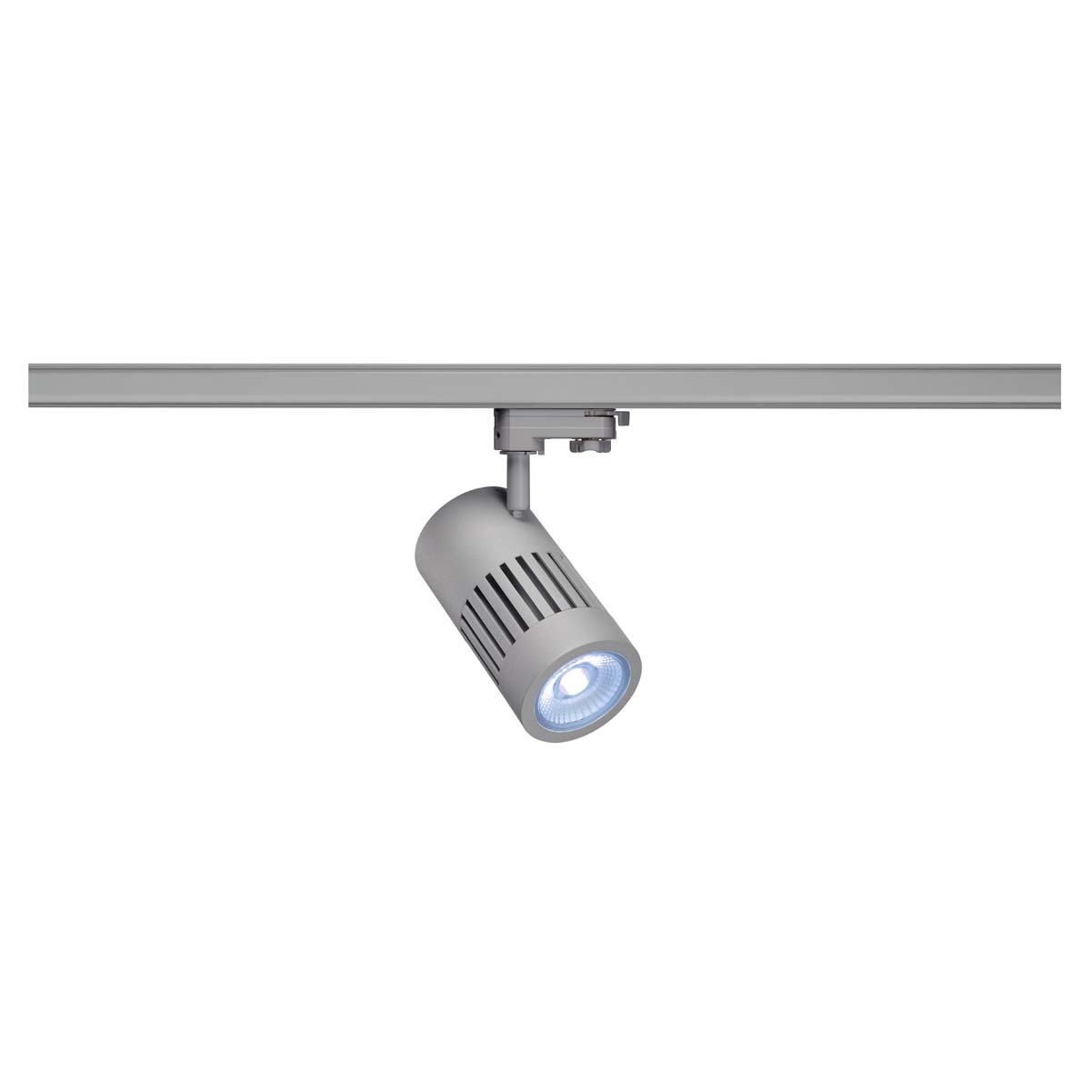 SLV 176034 STRUCTEC LED 24W, round, silver, 4000K, 60°, incl. 3-phase adapter