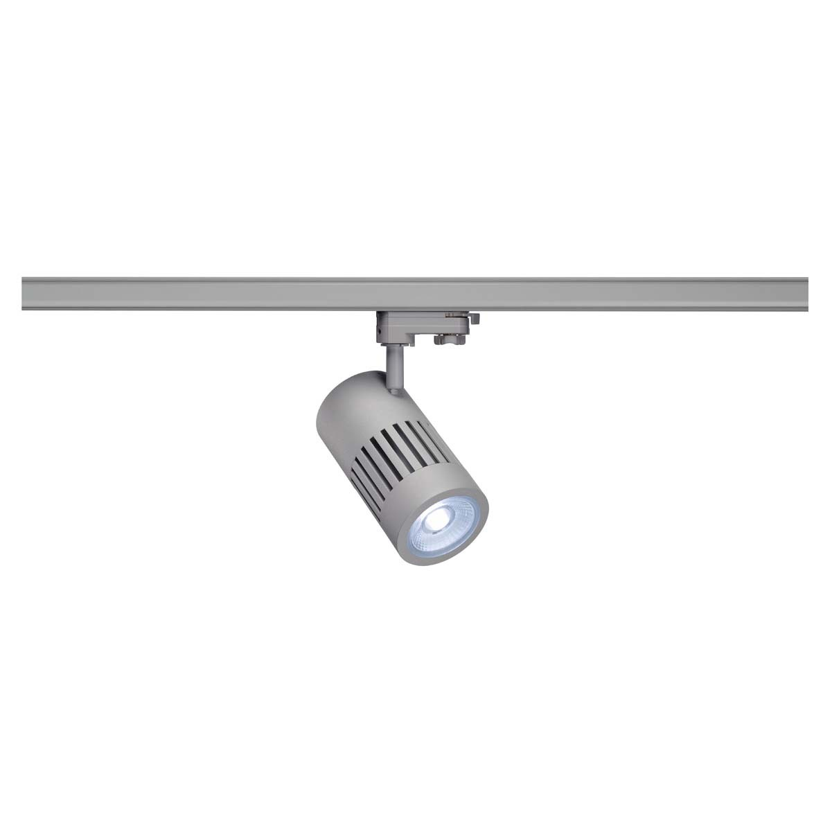 SLV 176064 STRUCTEC LED 30W, round, silver, 4000K, 36°, incl. 3-phase adapter