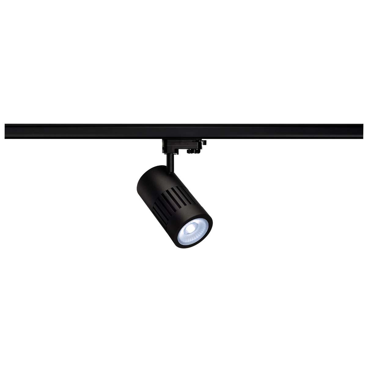 SLV 176070 STRUCTEC LED 30W, round, black , 4000K, 60°, incl. 3-phase adapter