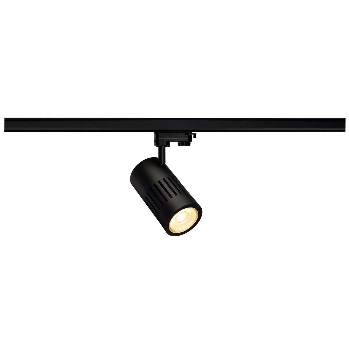 SLV 176090 STRUCTEC LED 30W, round, black, rich colour, 60°, incl. 3-phase Adapter