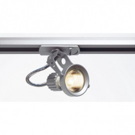 SLV 143307 Aero GU10 50W Silver Grey 1 Circuit 240V Track Light