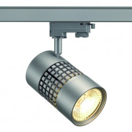 SLV 152854 Structec LED 30W 3000K 60 Degree Silver Grey Eutrac 3 Circuit 240V Track Light