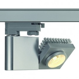 SLV 152904 Structec LED 10W 3000K 38 Degree Silver Grey Eutrac 3 Circuit 240V Track Light