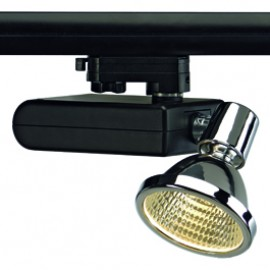 SLV 153730 D-Rection 70W G12 Black & Chrome Eutrac 3 Circuit 240V Track Light