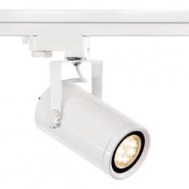 SLV 153901 Euro Spot Integrated LED 13W 2700K 15 Degree White Eutrac 3 Circuit 240V Track Light
