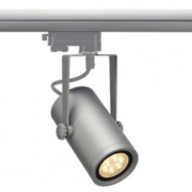 SLV 153904 Euro Spot Integrated LED 13W 2700K 15 Degree Silver Grey Eutrac 3 Circuit 240V Track Light