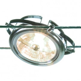 186462 Wire Lamp AR111 50W Chrome Wire 12V System Light