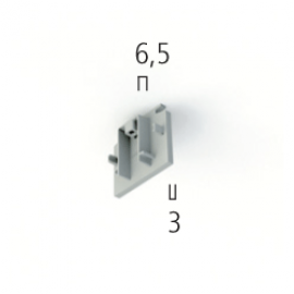 EUTRAC DALI 555 0 1217 1 END CAP FOR EUTRAC SURFACE MOUNTED TRACK, WHITE