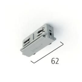 EUTRAC DALI 555 2 1206 1 ELECTRICAL STRAIGHT COUPLER W. DATA BUS, WHITE