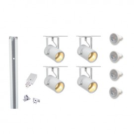 Track 800060 Eurospot GU10 x 4 White LED Track Kit