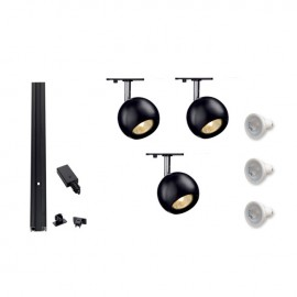 Track 800094 Single Eye 1 x 3 Track Kit Black