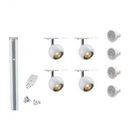 Track 800116 Single Eye 1 x 4 White LED Track Kit