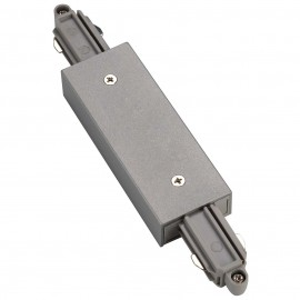 SLV 143102 Straight Coupler With Feed In Silver Grey 1 Circuit 240V Track Accessory