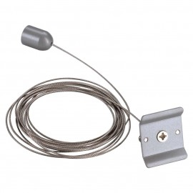 SLV 143142 Ceiling Suspension 3m Silver Grey 1 Circuit 240V Track Accessory
