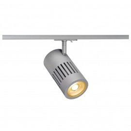 SLV 144104 STRUCTEC LED 24W, round, silver, 3000K, 36°, incl. 1-phase adapter