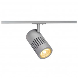 SLV 144114 STRUCTEC LED 24W, round, silver, 3000K, 60°, incl. 1-phase adapter