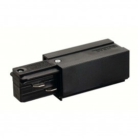 SLV 145510 Feed In Earth Left Black Eutrac 3 Circuit 240V Surface Track Accessory